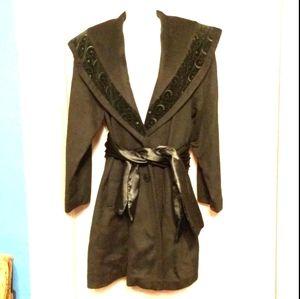 David Benjamin Designer Coat & Sash Hockanum Wool